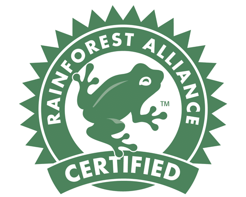 The Rainforest Alliance logo.