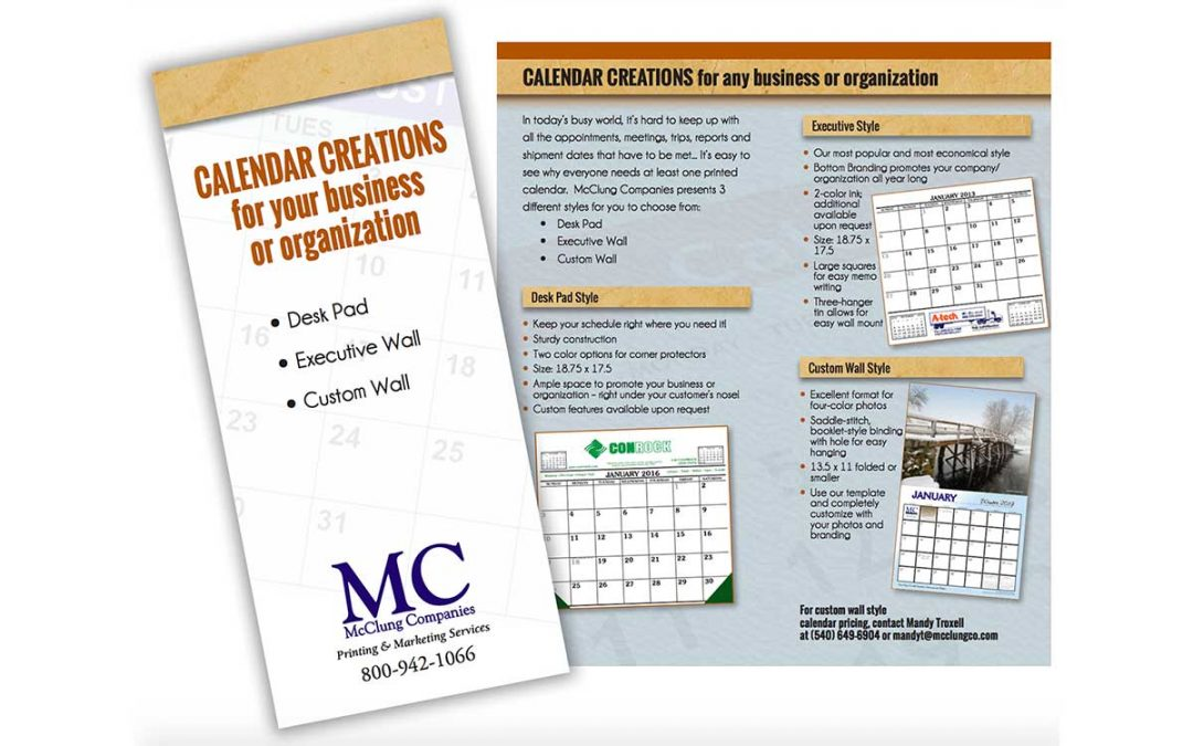 CALENDAR CREATIONS for any business or organization