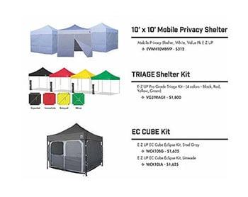 Emergency response shelters