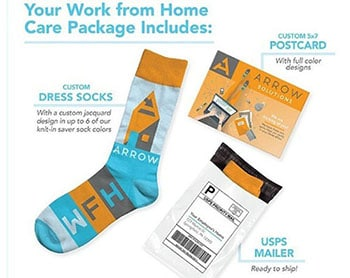 Branded work from home care kits